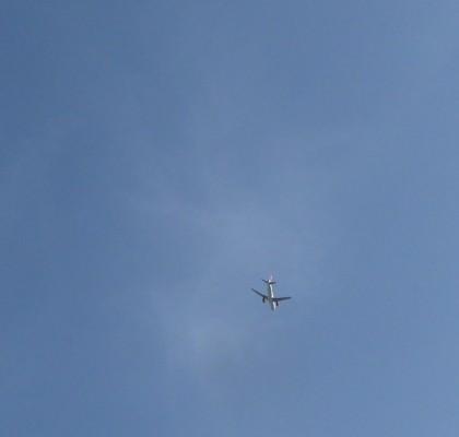Nur Flugzeuge am Himmel